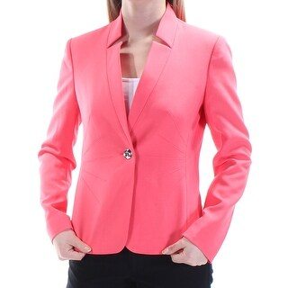 Womens Coral Wear To Work Suit Jacket Size 2