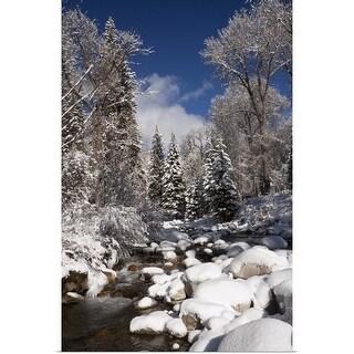 """USA, Colorado, Winter landscape"" Poster Print"