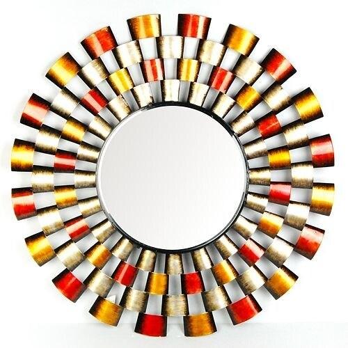 Metro Design Mirror - Multi - 34.0 in. x 34.0 in. x 2.0 in.