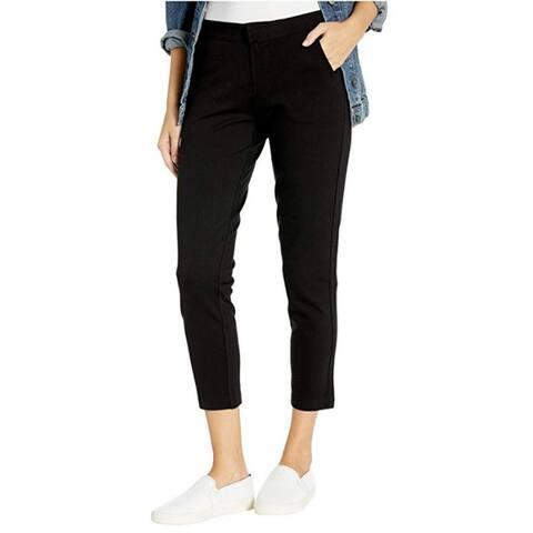 Jag Jeans Womens Chelsea Trouser Pants Straight Leg Mid-Rise - Black