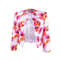 Kasper Women's Textured Floral Jacket - pink perfection multi
