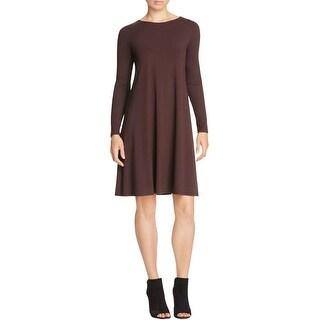 Eileen Fisher Womens Casual Dress Jewel Neck Long Sleeves
