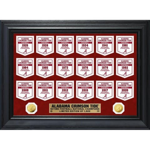 Alabama Crimson Tide Gold Coin Deluxe Banner Collection - 18x22