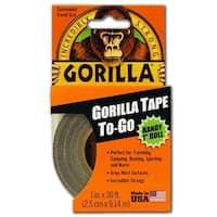 "Gorilla 6100109 Incredibly Strong Tape-To-Go Duct Tape Handy Roll, 1"" x 30'"