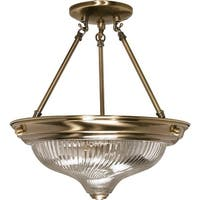 "Nuvo Lighting 60/233 2-Light 13-1/4"" Wide Semi-Flush Bowl Ceiling Fixture - ANTIQUE BRASS"