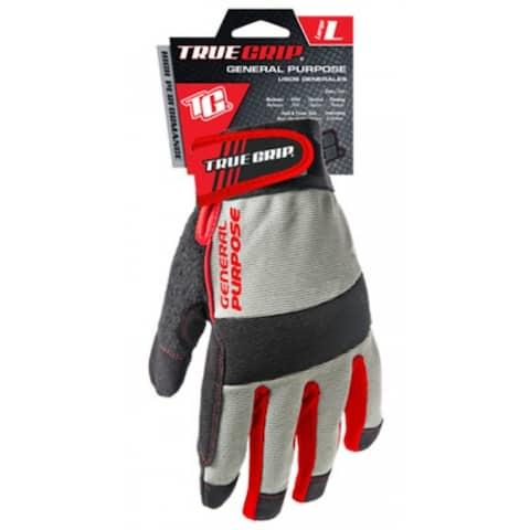 True Grip 9813-23 General Purpose High Performance Work Glove, Large