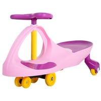 Lil Rider M410003 Ride on Wiggle Car Toy - Pink, Purple