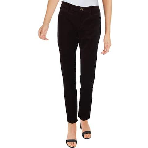 J Brand Womens Skinny Pants Corduroy Mid-Rise - Blackberry