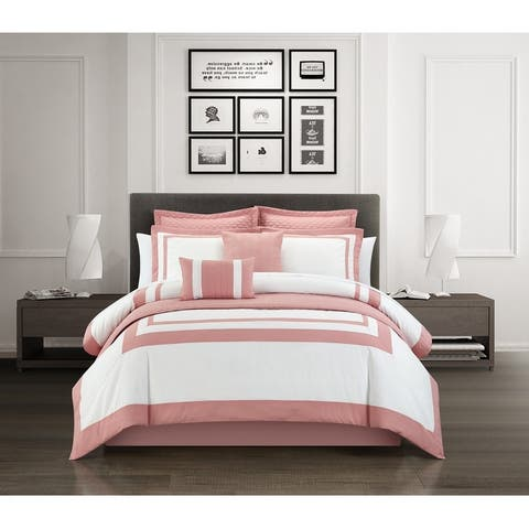 Chic Home Golda 8 Piece Hotel Collection Comforter And Quilt Set