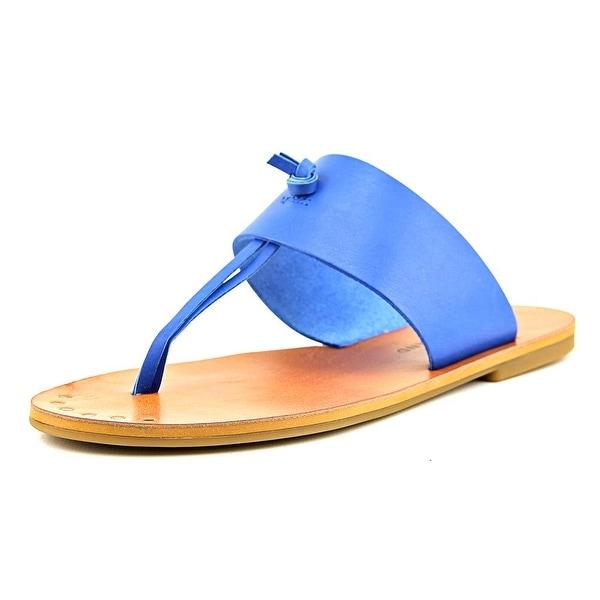 Lucky Brand Ari Women Open Toe Leather Blue Thong Sandal