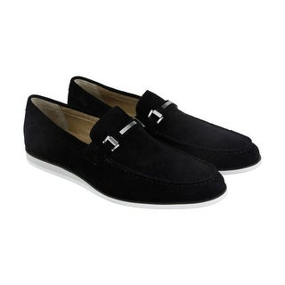 Calvin Klein Kiley Calf Mens Black Suede Casual Dress Slip On Loafers Shoes