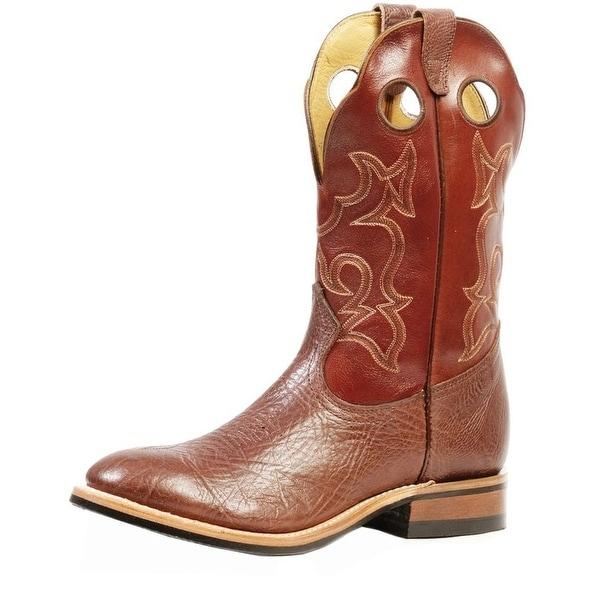 Boulet Western Boot Men Cowboy Leather Shoulder Roper Noce Taurus