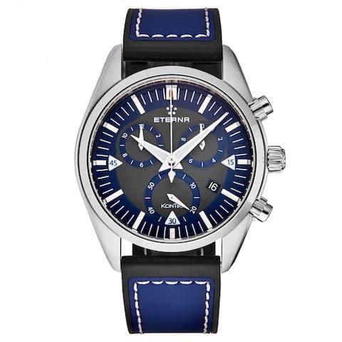 Eterna Men's 1250.41.81.1303 'KonTiki' Blue Dial Chronograph Swiss Quartz Watch