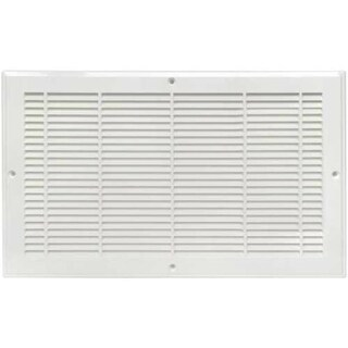 """Imperial RG2298 Plastic Baseboard Grill 6""""x12"""", White"""
