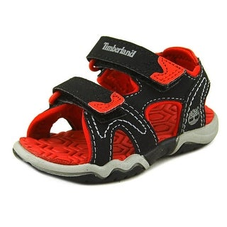 Timberland Adventure Seeker 2-Strap Youth Open-Toe Leather Black Sport Sandal
