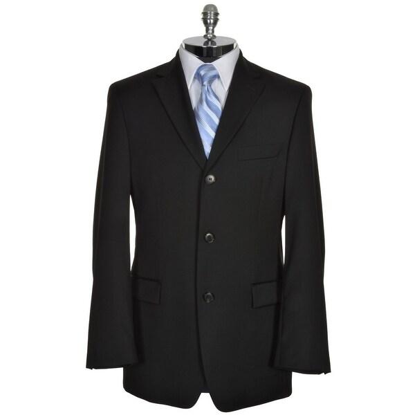 b130ce194 HUGO BOSS Rossellini Mens Black Wool Sportcoat 38 R 38R Super 100's