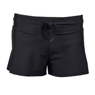 Go by Gossip Women's Cover-Up Drawstring Board Shorts (S, Black) - Black https://ak1.ostkcdn.com/images/products/is/images/direct/dc9fd23c2668b6a6df63bc5540b67503d154353d/Go-by-Gossip-Women%27s-Cover-Up-Drawstring-Board-Shorts-%28S%2C-Black%29.jpg?impolicy=medium