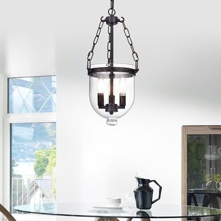 Link to Antique Bronze 3-Light Clear Glass Lantern Pendant - Antique Bronze Similar Items in As Is