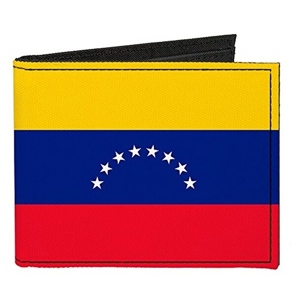 Buckle-Down Canvas Bi-fold Wallet - Venezuela Flag Accessory