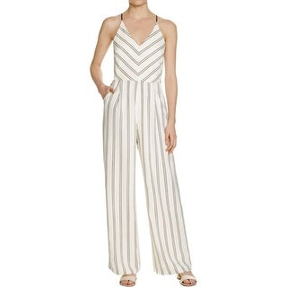 Adelyn Rae Womens Jumpsuit Striped Spaghetti Straps