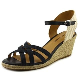 Lucky Brand Kelley Women Open Toe Canvas Wedge Heel