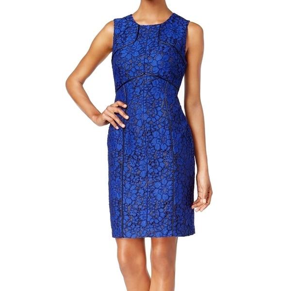 Shop Calvin Klein New Blue Women S Size 4 Faux Leather