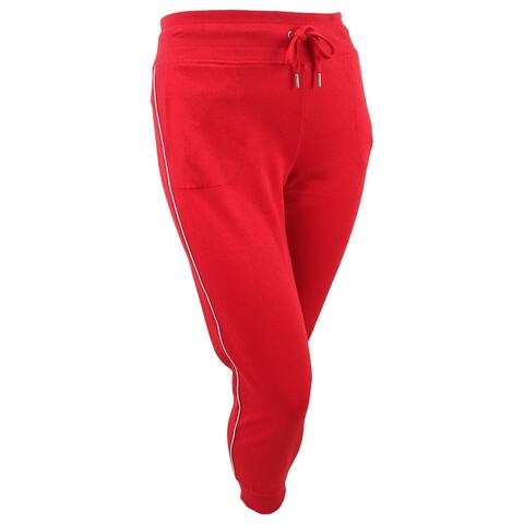 Tommy Hilfiger Sport Women's Piped-Trim Jogger Pants (XL, True Red) - True Red - XL