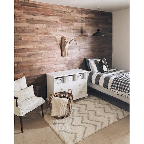 Timberchic Reclaimed Wooden Wall Planks - Peel and Stick Application (Freestone)