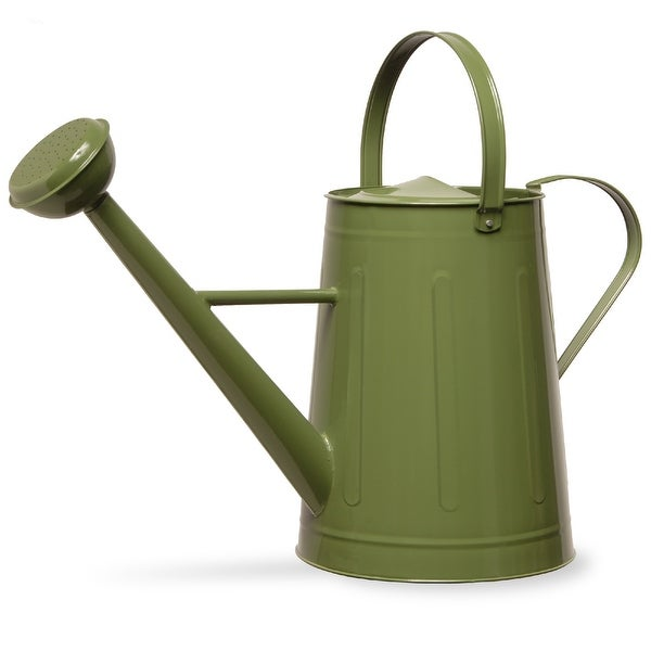 """17"""" Green Handcrafted Antique Watering Can - N/A"""