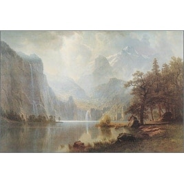 ''In the Mountains'' by Albert Bierstadt Museum Art Print (24 x 36 in.)
