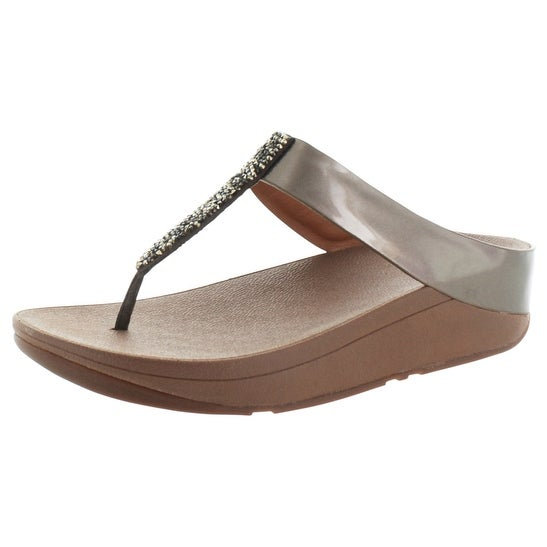 FitFlop Fino Toe Post Women's Thong Metallic Sandals