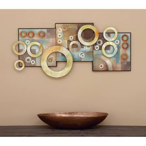 Multi MDF Modern Wall decor 17 x 36 x 1