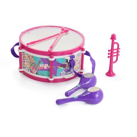 Barbie 6 Piece Rhythm and Melody Drum Set in Blue