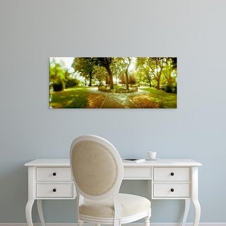 Easy Art Prints Panoramic Images's 'Trees in a park, McCarren Park, Greenpoint, Brooklyn, New York City' Canvas Art