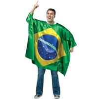 Rasta Imposta Brazil Flag Tunic Adult Costume - Solid - one-size