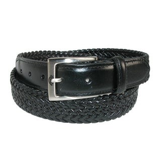 Dickies Men's Leather Braided Stretch Belt