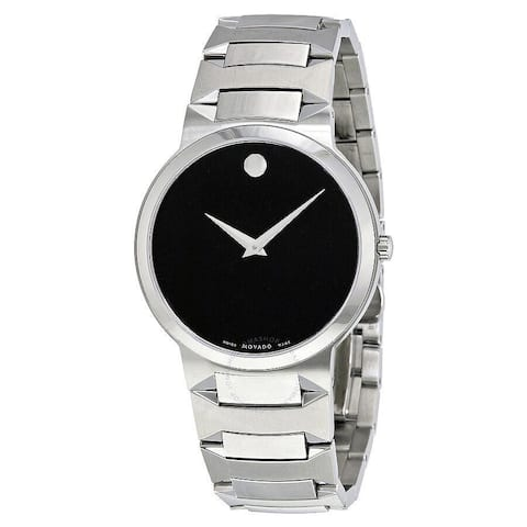 Movado Women's 0607295 'Temo' Stainless Steel Watch - Black