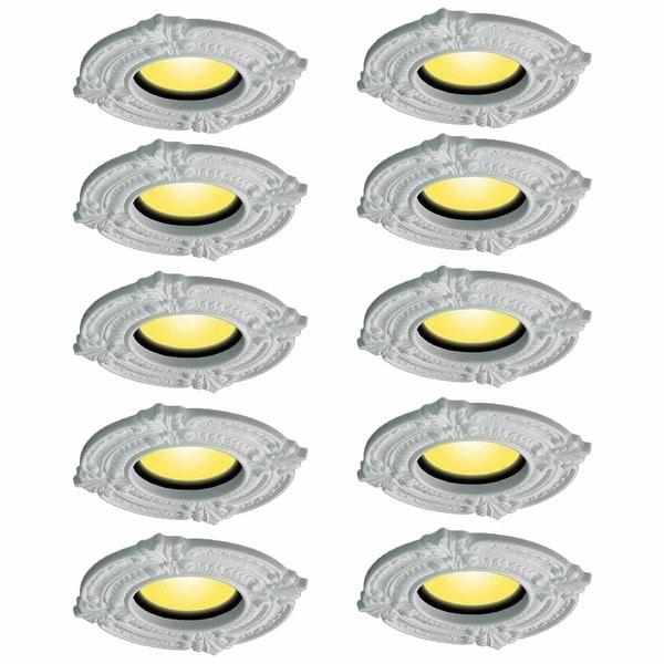 Spot Light Trim Medallions 6 ID Urethane White Set of 10 | Renovator's Supp