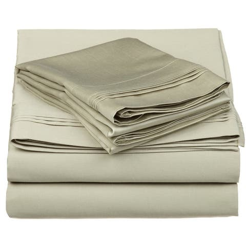 Miranda Haus Anemone Egyptian Cotton Deep Pocket Solid Sheet Set