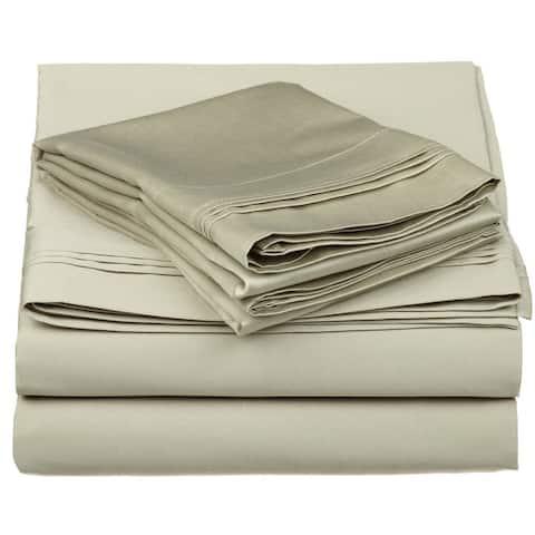 Superior Anemone Egyptian Cotton Deep Pocket Solid Sheet Set