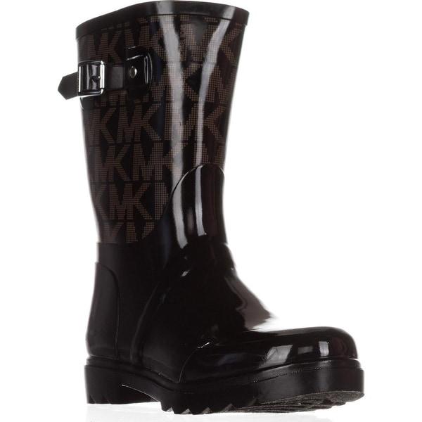 Michael Kors MK Logo Mid-Calf Rainboots, Black