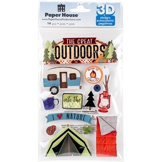 """Paper House 3D Stickers 4.5""""X7""""-Great Outdoors"""