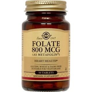 Solgar Folate 800 mcg (As Metafolin ) (100 Tablets)