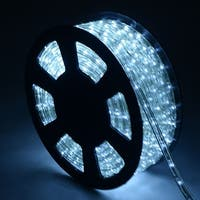 Costway 100' 2 Wire LED Rope Light Christmas Decorative Party In/Outdoor 110V Cool White