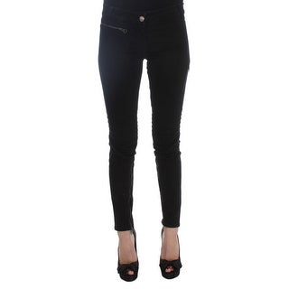 Ermanno Scervino Black Cotton Slim Fit Stretch Jeans - it42-m