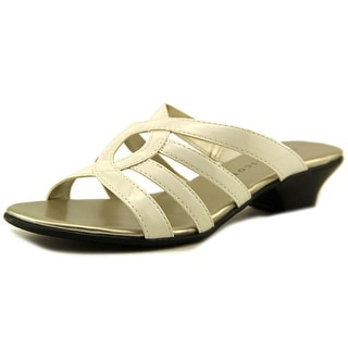 Karen Scott Emet Open Toe Synthetic Slides Sandal