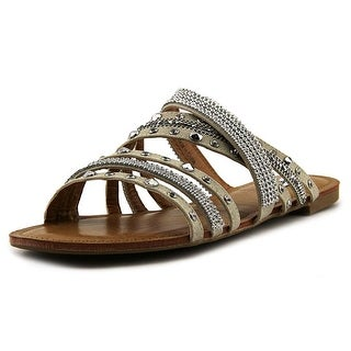 Not Rated Palm Island Women  Open Toe Synthetic Tan Slides Sandal