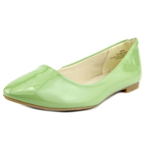 Restricted Blinker Pointed Toe Synthetic Flats