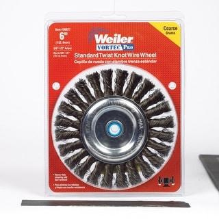 """Weiler Vortec-Pro 36027 Standard Twist Knot Wire Wheel, 6"""""""