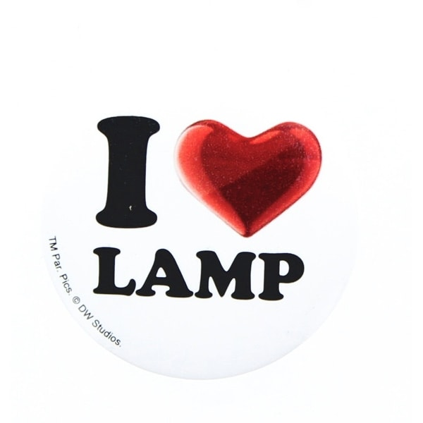 "Anchorman The Legend of Ron Burgundy ""I Love Lamp"" Button"